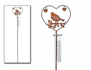 Regenmesser-Gartenstecker-Vogel-im-Herz-aus-Metall-L-108-cm