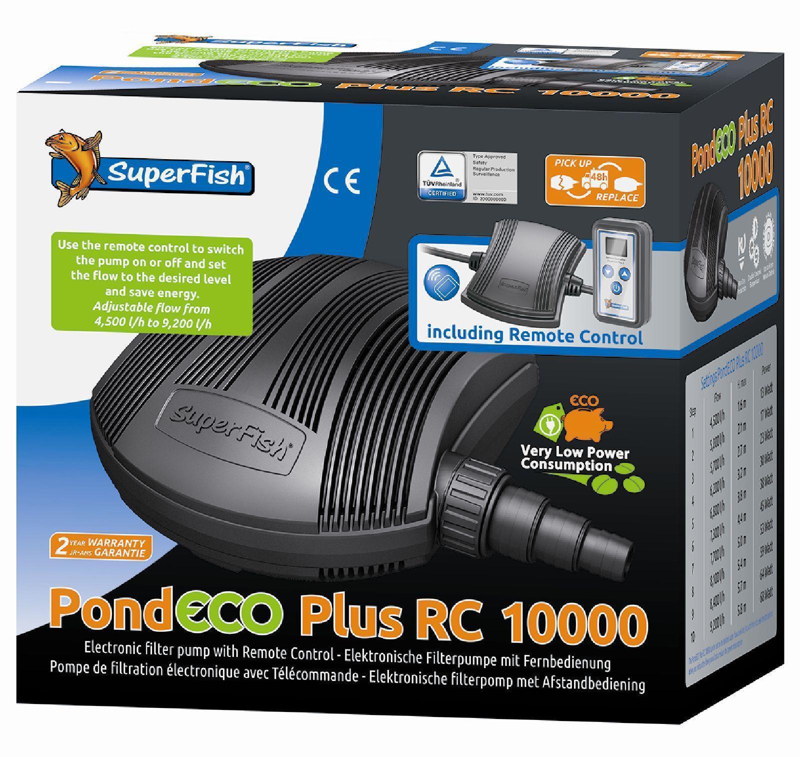 SF Pond ECO Plus RC 10000 filtro e Bach Tapis pompa con telecomando