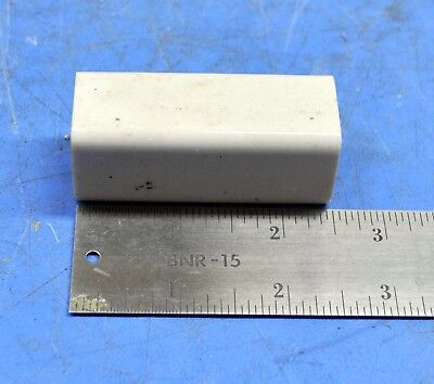 "CRL HH Smith Porcelain Ceramic Standoff Insulator 2-1//2/"" X 1/"" Square"