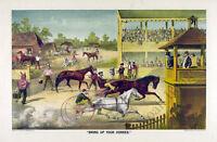 Vintage Horse Race Poster Repro 30x20