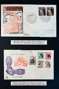 Worldwide Scarce Animal Cancel Stamp Covers Collection 150+ IN Album