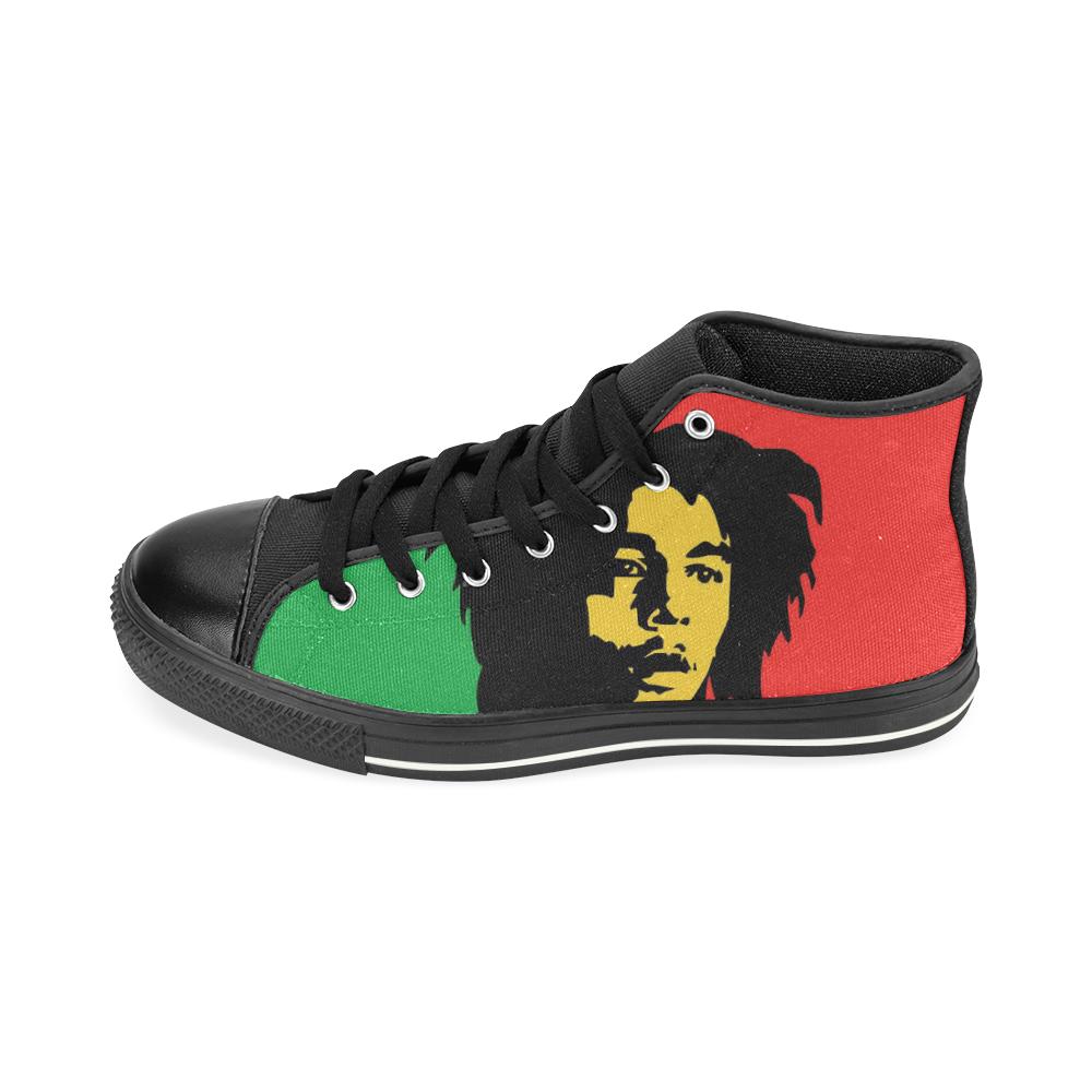 Bob Marley Canvas Black Men's High top shoes