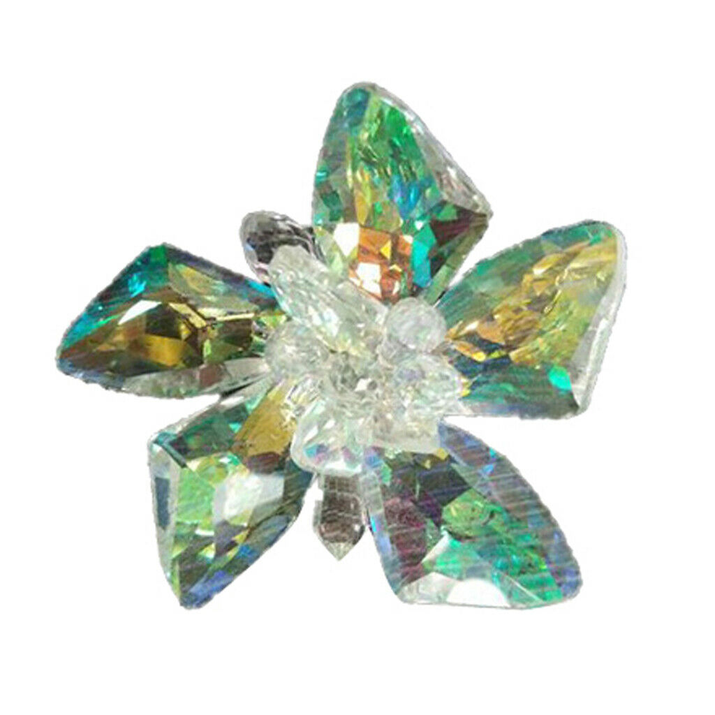 2 pieces of Crystal Flower Shoe Charms