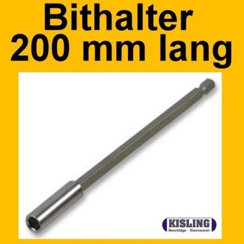 """Schnellwechsel BITHALTER mit MAGNET 200 mm lang 1//4/"""""""