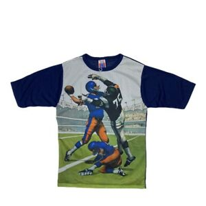 Vtg 70s Brand New Nfl Football Graphic Jersey T Shirt M Sears Perma Prest