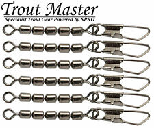 Spro Trout Master 5-Fach Wirbel Barrel Snap Swivel #14 Gr 14 9Kg 4618258 Forellenwirbel