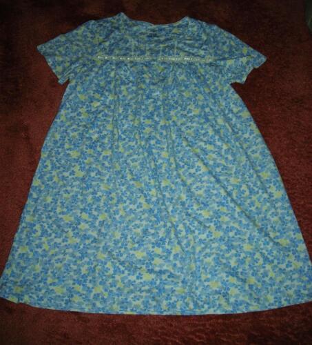 Croft /& Barrow Soft Lt Green//White Floral Print Womens Nightgown~MSRP $34~NWT