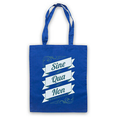 SINE QUA NON ESSENTIAL LATIN PHRASE QUOTE SHOULDER TOTE SHOP BAG
