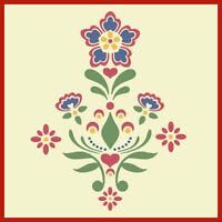 Rosemaling Pattern 1 Stencil- Swedish Kurbits - The Artful Stencil