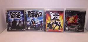 Rock-Band-1-2-Guitar-Hero-Warriors-of-Rock-amp-World-Tour-PS3-Lot-Tested-amp-Works