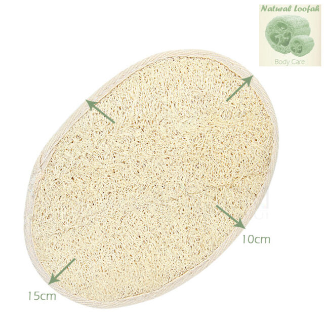 Natural Loofah Luffa Sponge Pad Body Skin Exfoliation Scrubber Bath Shower Brush