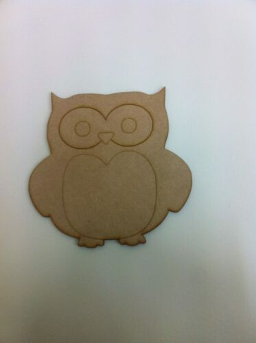 Wooden mdf Owl Embellishment craft Blank various sizes E91