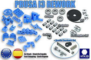 Kit Prusa i3 Rework 3D printer with movement 608zz 624zz GT2 hobbed bolt ++ DIY