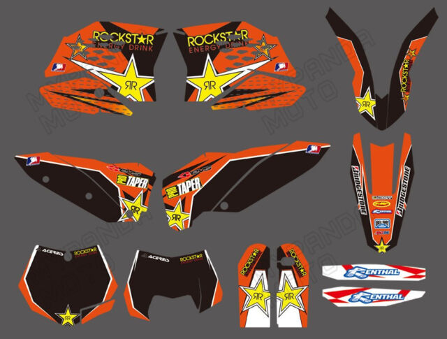 TEAM GRAPHICS & BACKGROUNDS DECALS FOR KTM SX SXF 2007 08 09 10 XC EXC 2008-2011