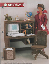 Fashion Doll Office Furniture Desk & Accessories Plastic Canvas Patterns