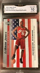 Lebron-James-ROOKIE-2003-Phenomenal-Beginnings-Gem-mint-10-USA-Flag-20-Lakers