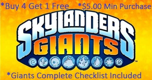 Skylanders Giants Complete Your Set with Checklist* Wii U PS3 PS4 Xbox 360 One