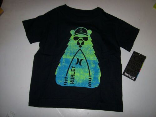 New Hurley short sleeve T shirt boys black bear or lime green 2T or 3T or 4T