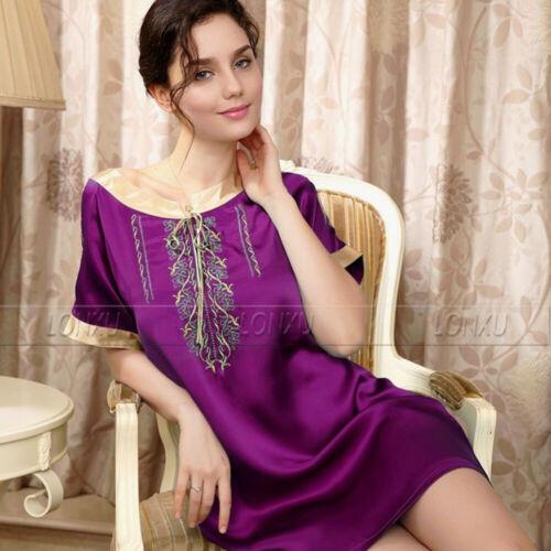 Women Silk Satin Pajamas Sleepshirt Nightdress Lingerie Sleepwear/_/_For XMAS Gift
