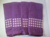 Kitchen Towels Set Of 4 - 100% Cotton - Purple Color - Size 14 X 25
