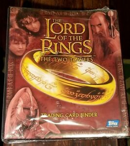 LORD-OF-THE-RINGS-THE-TWO-TOWERS-NOS-2002-TOPPS-TRADING-CARD-BINDER-NEW-SEALED