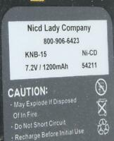 Nicad Lady Co Knb-15 Nicd 7.2v 1200mah Battery Pack For Kenwood Tk-260