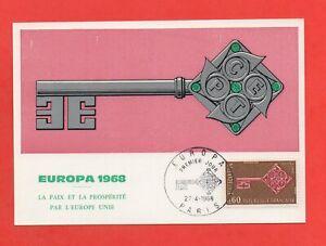 FDC-1968-Europa-La-Paz-Y-La-Prosperidad-Por-Europa-Liso-K150