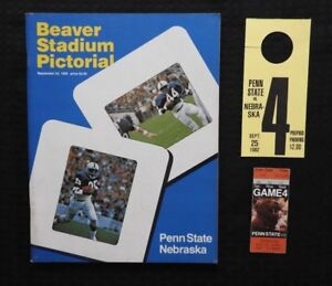 100% Vrai Septembre 25 1982 Penn State Lions Contre Nebraska Huskers Football Programme +