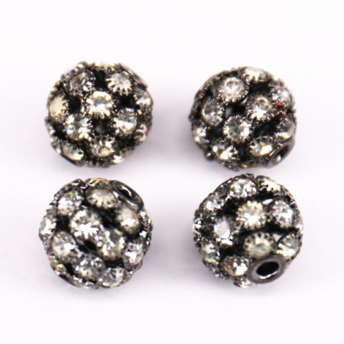 Lots Czech Glass Crystal Rhinestone Spacer Bead Jewelry DIY 6//8//10//12//14//16//18mm