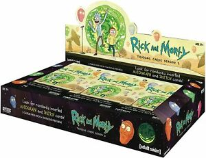 Rick & Morty Season 2 Trading Cards  Factory Sealed Hobby Box of 24 packs