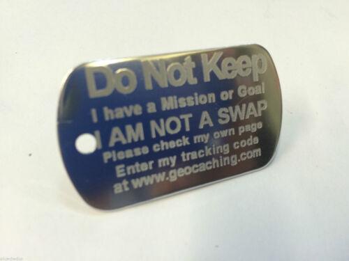 Buddy ou objectif tag pour toute geocache traçables tag Mission sur étagère prêt *