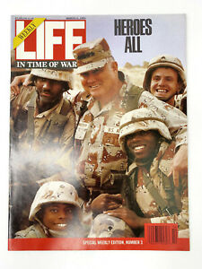 Life March Magazine March 11 1991 In Time of War Norman Schwarzkopf and Troops