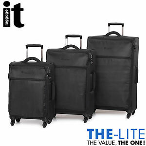IT Luggage The LITE Trolley Suitcase 3Pc Set TSA Travel Carry On ...