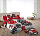 NATURALS Funda nordica cama KARMA mandala rojo negro gris/Duvet cover