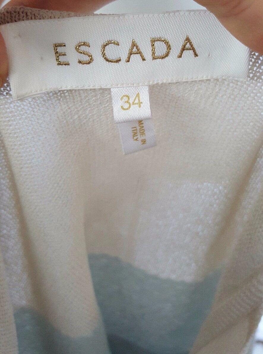 Women's Women's Women's ESCADA Ombre Wool Blend Sleeveless Sweater Size 34   Size Small b37a59