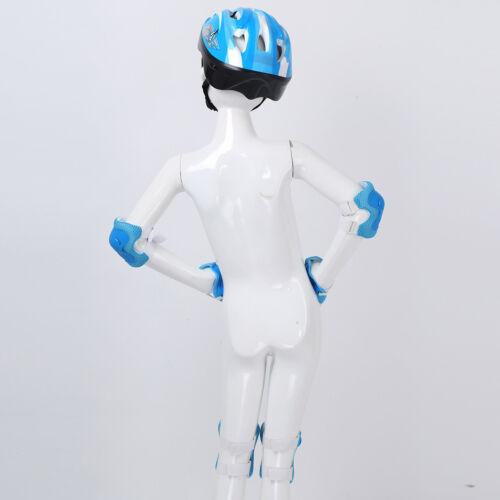 7 Set Adjustable Safety Kids Helmet w//Knee Elbow Wrist Pad Scooter Skateboard