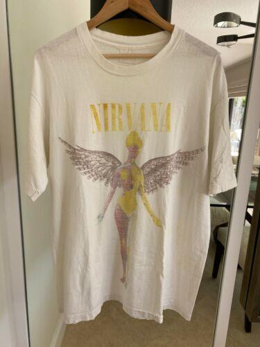 Nirvana In UTERO original VINTAGE T-shirt KURT COB