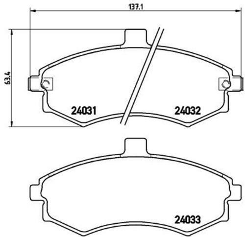 Revêtements Devant ø257 Hyundai ELANTRA Berline 3940341 Brembo Disques De Frein