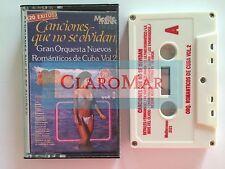 ☀️Romanticos de CUBA Canciones Historia Zingara Besame Mucho Nave Cassette RARE