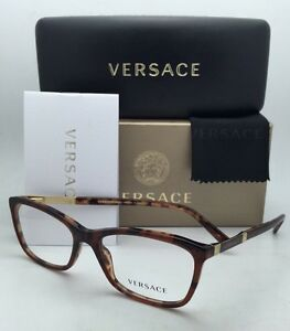 851d61a8d5e New VERSACE Eyeglasses VE 3186 5077 52-16 140 Havana Tortoise Frame ...