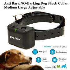 Rechargeable Anti Bark Shock Collar For Medium Large Dog No Barking Waterproof