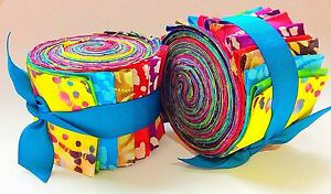 Batik-Fabric-2-5-inch-Jelly-Roll-100-cotton-fabric-quilting-strips-20-PIECES