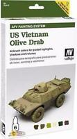 Vallejo Us Vietnam Olive Drab Armour Set Val 78412
