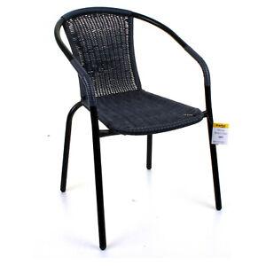 Garden Outdoor Patio Chairs Black Frame