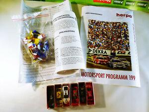 Herpa-Motorsportspiel-DTM-Hockenheimring-1995-mit-6-Modellautos
