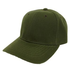 f434626a2f43d Image is loading Olive-Green-Blank-Plain-Solid-Adjustable-Tennis-Baseball-