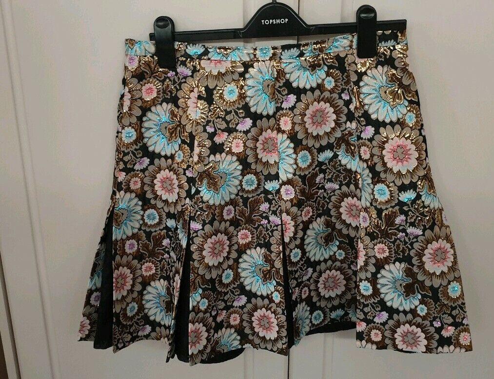J. Crew Jacquard Knee Length Skirt, size 12UK (8US)