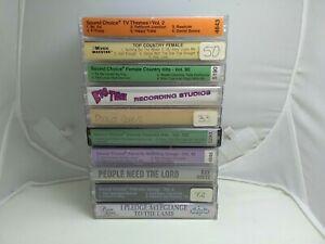 10 Cassette Lot Karaoke Tapes Vintage Accompaniment Country Gospel TV Themes