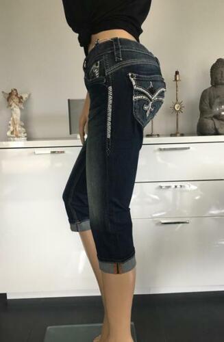 Rock Revival Donna Jeans Capri Stephanie p400 NUOVO