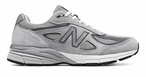 Factory-Second-New-Balance-Men-039-s-Made-in-US-990v4-Shoes-Grey